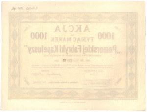 Pomorska Fabryka Kapeluszy, Em.I, 1000 marek