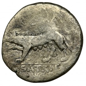Roman Republic, Satrienus, Denarius