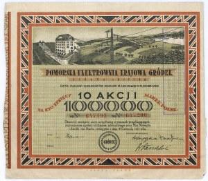 Pomorska elektrownia Krajowa GRÓDEK - 10 x 10.000 marek