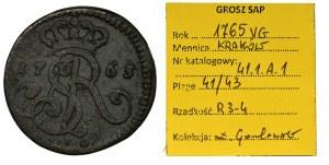 Poniatowski, Grosz Kraków 1765 VG - ILUSTROWANY, BARDZO RZADKI