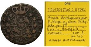Poniatowski, Grosz 1767 G - FAŁSZERSTWO, ILUSTROWANY, BARDZO RZADKI