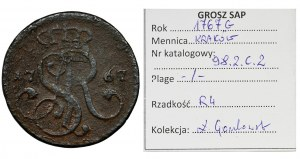 Poniatowski, Grosz Kraków 1767 G - BARDZO RZADKI