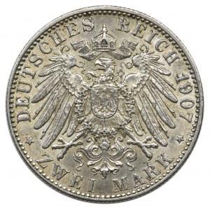 Germany, Hamburg, 2 mark 1907 J