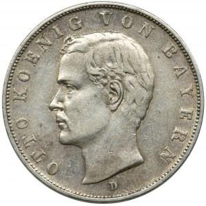 Germany, Bavaria, Otto, 3 mark Munich 1908 D