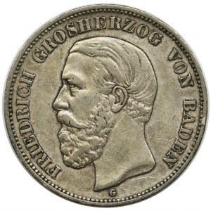 Germany, Baden, Friedrich I, 5 mark Karlsruhe 1900 G