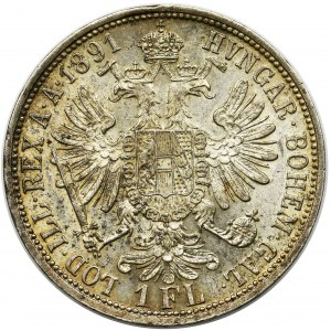 Austria, Franz Joseph I, 1 floren Wien 1891