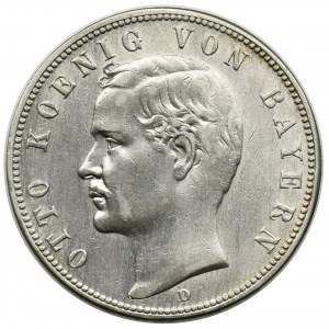 Germany, Bavaria, Otto, 5 mark Munich 1898 D