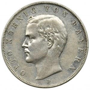 Germany, Bavaria, Otto, 3 mark Munich 1911 D