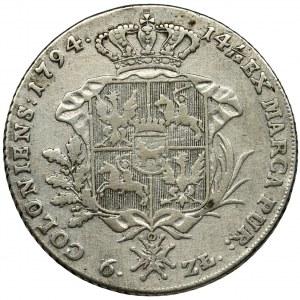 Poniatowski, Thaler 6 zloty Warsaw 1794