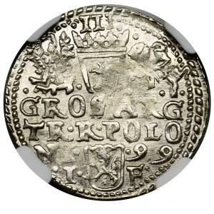Zygmunt III Waza, Trojak Olkusz 1599 - NGC MS63