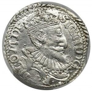 Sigismund III Vasa, 3 Groschen Olkusz 1598 - PCGS AU55 - UNLISTED