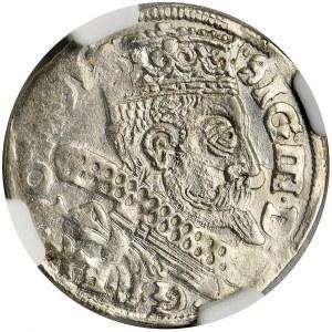 Zygmunt III Waza, Trojak Bydgoszcz 1599 - NGC MS63 - duża głowa