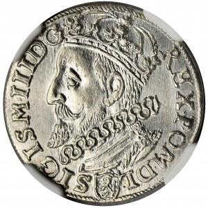 Sigismund III Vasa, 3 Groschen Krakau 1601 - NGC MS62