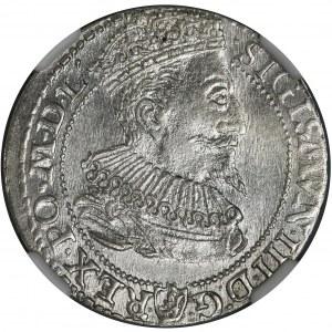 Sigismund III Vasa, 6 Groschen Marienburg 1596 - NGC MS62