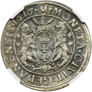 Sigismund III Vasa, 1/4 Thaler Danzig 1616 - NGC MS62