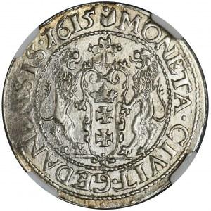 Sigismund III Vasa, 1/4 Thaler Danzig 1615 - NGC MS62