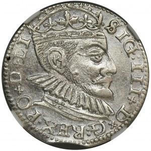 Sigismund III Vasa, 3 Groschen Riga 1590 - NGC MS62 - RARE