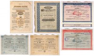 Zestaw - akcje, obligacje i listy zastawne