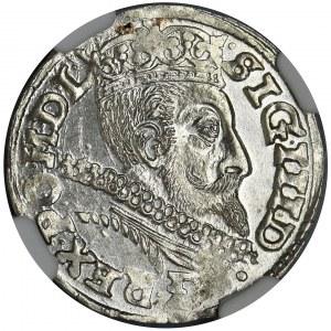 Sigismund III Vasa, 3 Groschen Posen 1601 - NGC MS62