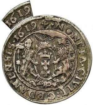 Sigismund III Vasa, 1/4 Thaler Danzig 1619 SB - countershaft 1618 - RARE