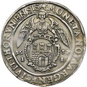 Ladislaus IV of Poland, Thaler Thorn 1637 II