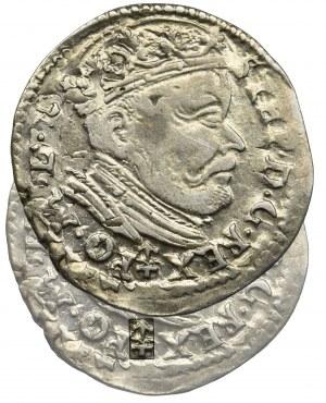 Stefan Batory, Trojak Wilno 1585 - herb Prus z grotem