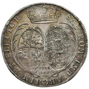 Augustus II the Strong, Thaler Dresden 1716 IGS