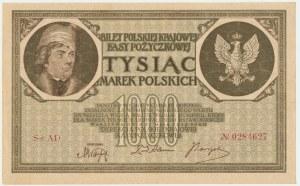 1.000 marek 1919 - AD - 7 cyfr - rzadsza