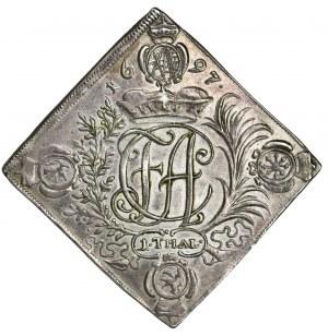 August II the Strong, Thaler Dresden 1697