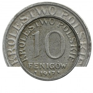Polish Kingdom, 10 fennig 1917