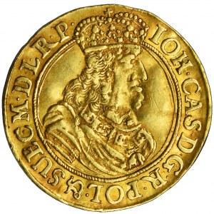 John II Casimir, Ducat Danzig 1661 DL - RARE