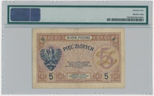 5 złotych 1919 - S.3.B - PMG 25 - RZADKA