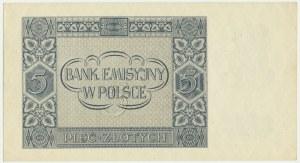 5 złotych 1941 - AF - rzadsza seria