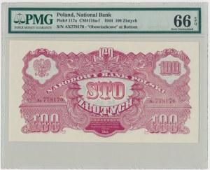 100 złotych 1944 ...owe - Ax - PMG 66 EPQ