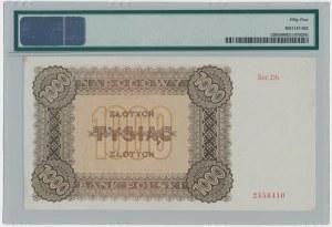 1.000 złotych 1945 - Dh - PMG 55 - rzadka seria zastępcza