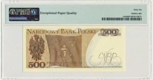 500 złotych 1982 - CD - PMG 66 EPQ - pierwsza seria odmiany