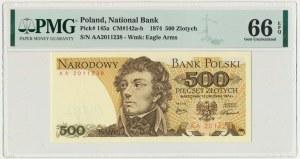 500 złotych 1974 - AA - PMG 66 EPQ