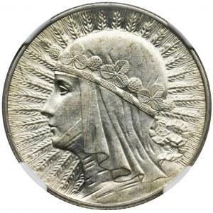 Głowa Kobiety, 5 złotych 1934 - NGC MS60
