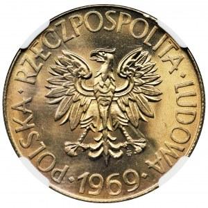 10 złotych 1969 Kościuszko - NGC MS68