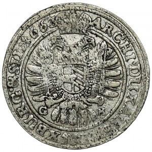 Silesia, Leopold I Habsburg, 15 Kreuzer Breslau 1661 GH