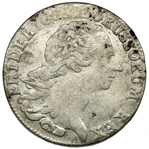 Germany, Kingdom of Prussia, Friedrich II, 1/6 Thaler Magdeburg 1765 F - RARE