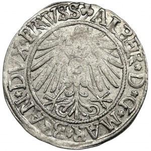 Prusy Książęce, Albrecht Hohenzollern, Grosz Królewiec 1542 - podwójne R