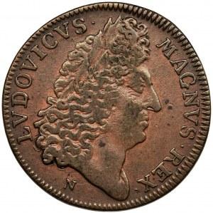 France, Louis XIV, Token 1695