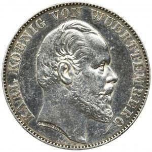 Germany, Wirtemberg, Karl, Siege Thaler Stuttgart 1871