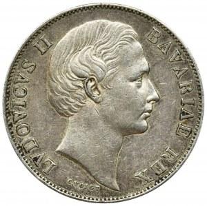 Germany, Bavaria, Ludwig II, Thaler Munich 1866