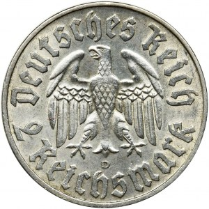 Germany, Third Reich, 2 mark Munich 1933 D