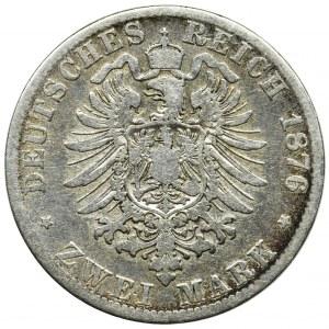 Germany, Bavaria, Ludwig II, 2 mark Munich 1876 D