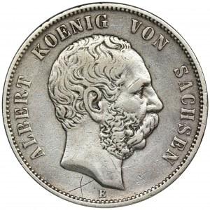Germany, Saxony, Albert, 5 mark Dresden 1876 E