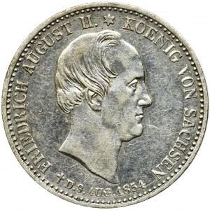 Germany, Saxony, Friedrich August II, 1/3 posthumous thaler Dresden 1854