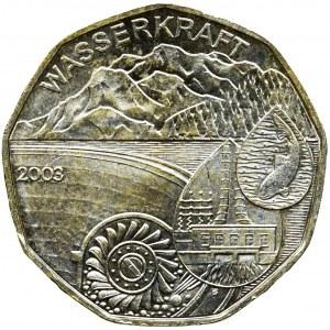 Austria, 5 Euro 2003 - Wasserkraft